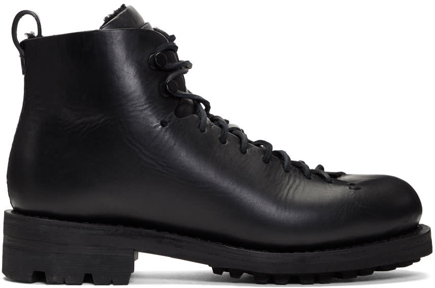 Image of Feit Black Military Hiker Boots