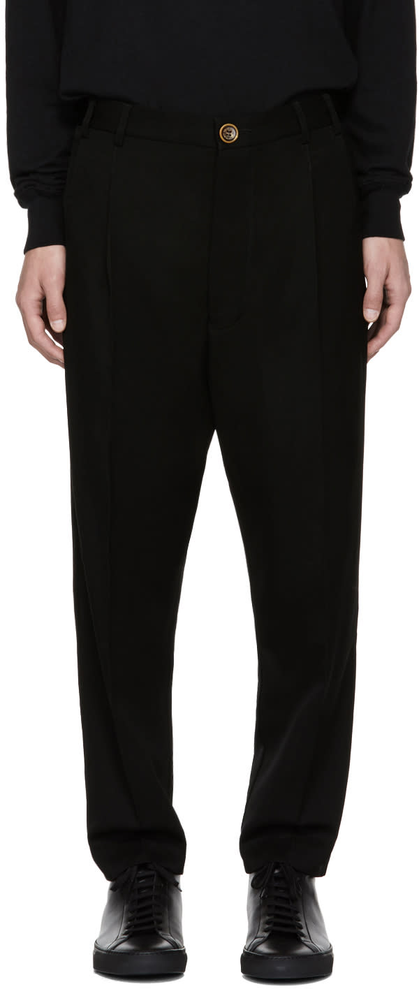 Image of Song For The Mute Black Pleated Tapered Trousers