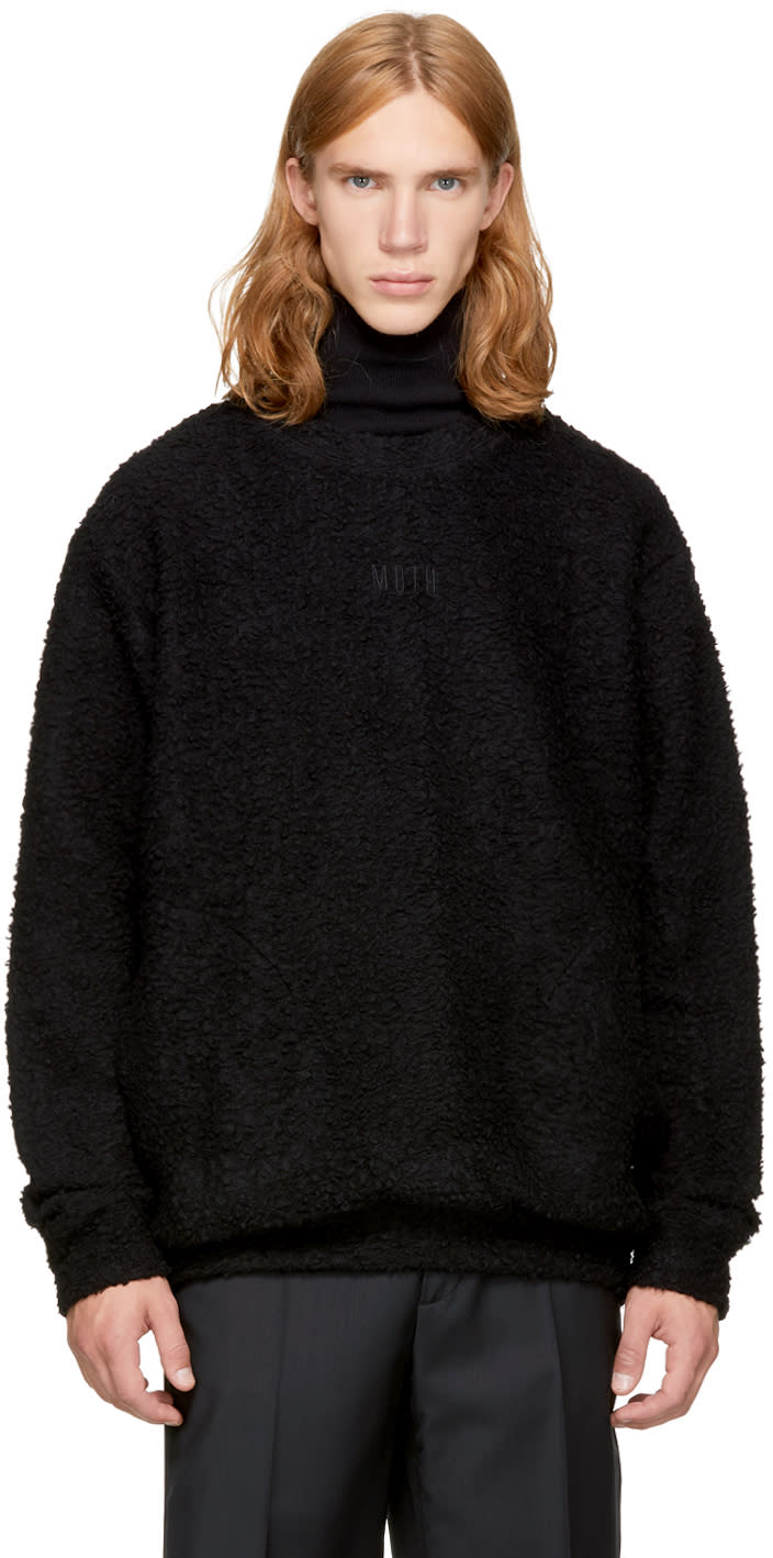 Image of Song For The Mute Black Bouclé Sweater