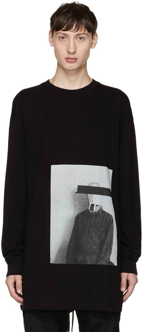 Image of Song For The Mute Black Long Sleeve bag Head T-shirt