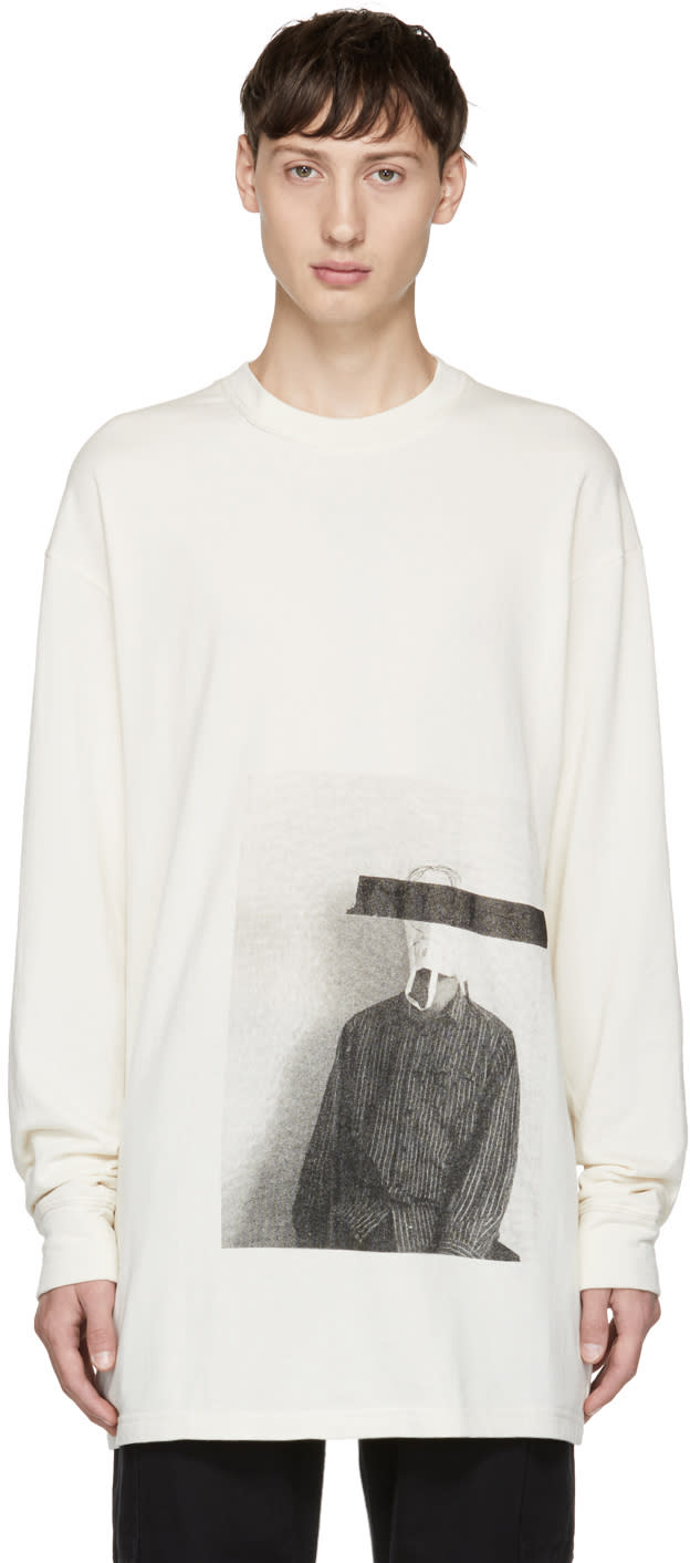 Image of Song For The Mute Off-white Long Sleeve bag Head T-shirt