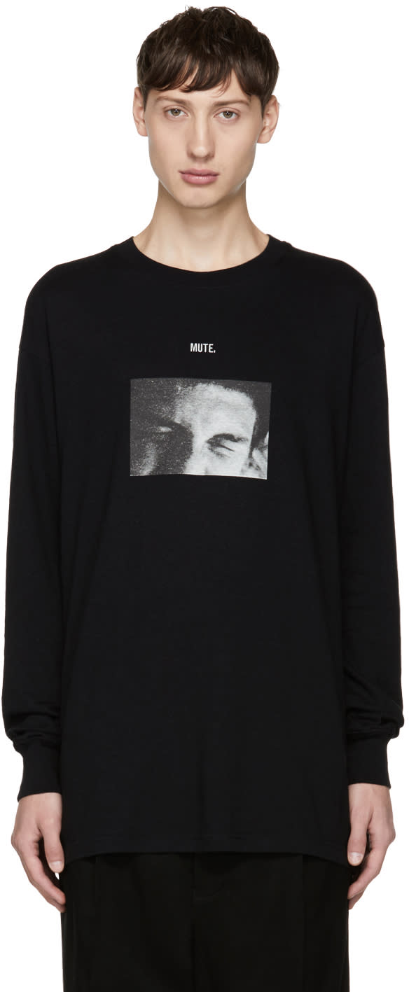 Image of Song For The Mute Black Long Sleeve mute T-shirt