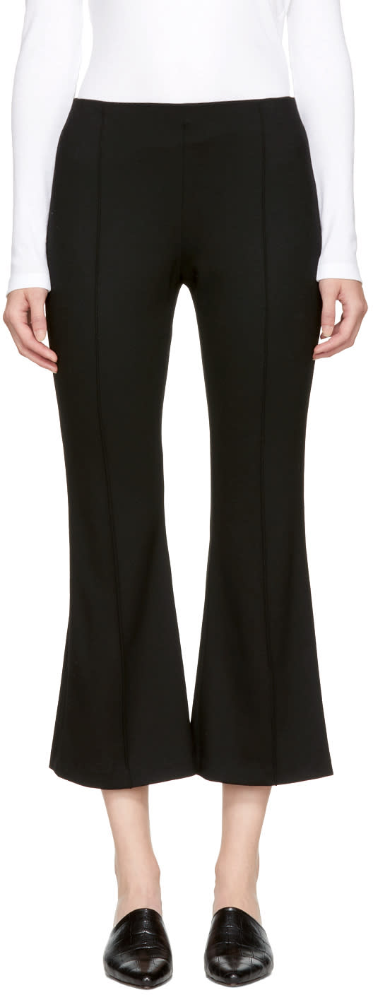 Image of Rosetta Getty Black Cropped Flared Trousers