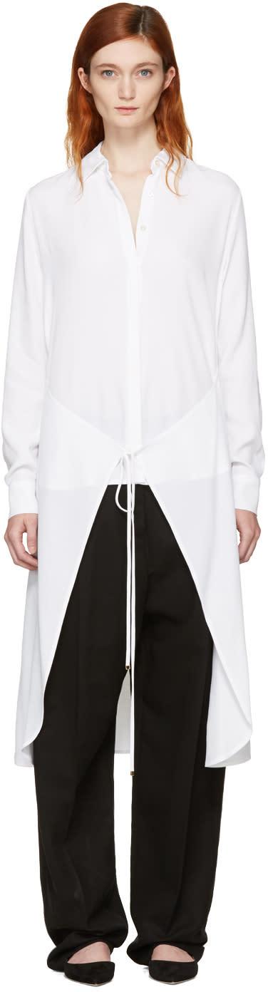 Rosetta Getty White Apron Wrap Shirt