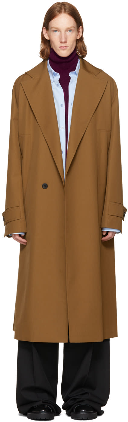 Image of Wooyoungmi Brown Long Wool Coat