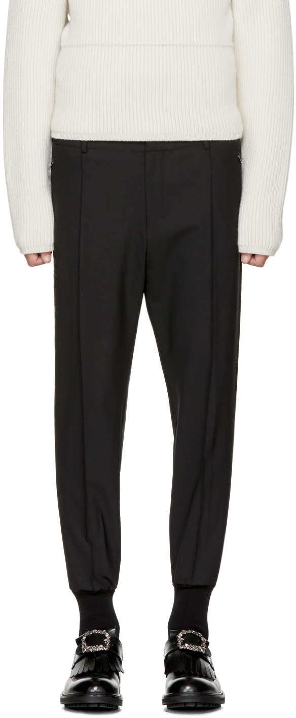 Image of Wooyoungmi Black Tapered Trousers