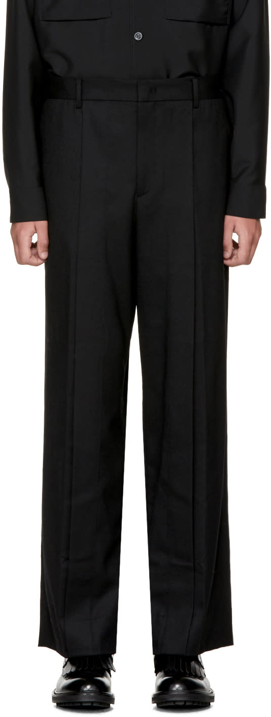 Image of Wooyoungmi Black Wide Trousers