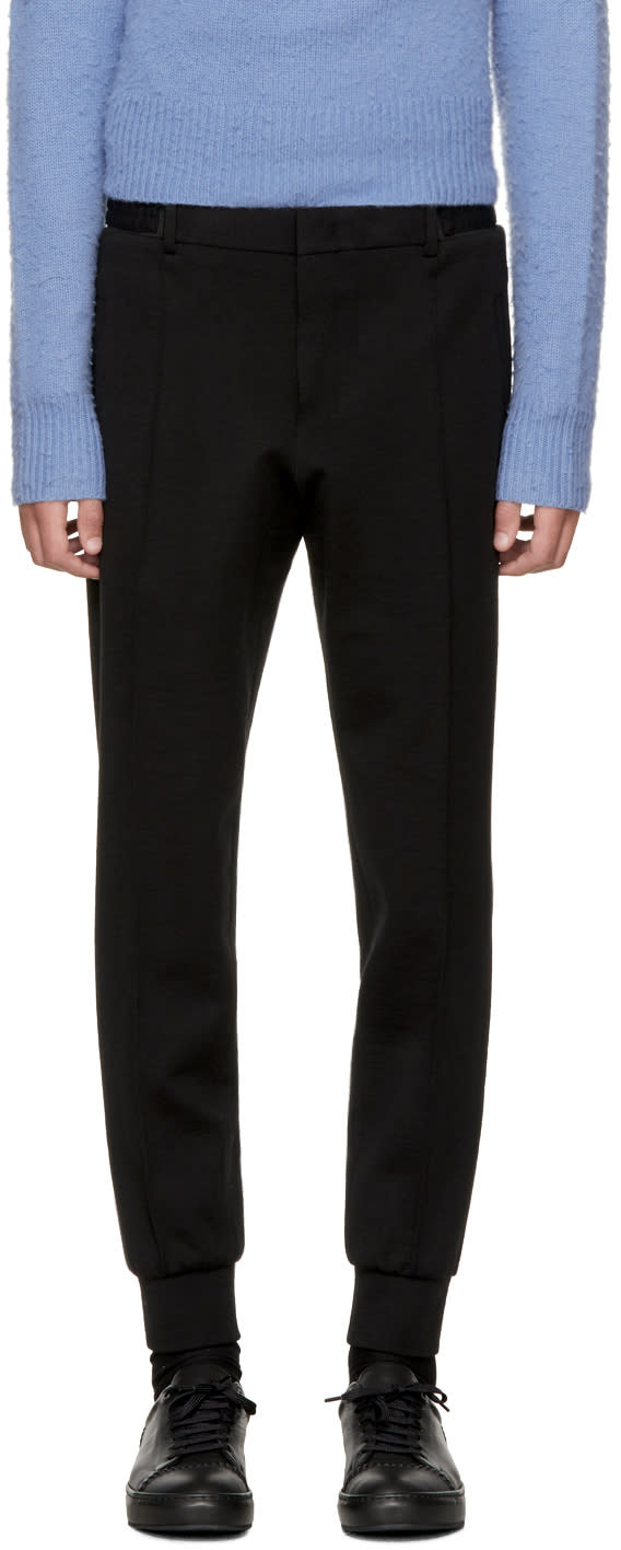 Image of Wooyoungmi Black Wool Suit Trousers