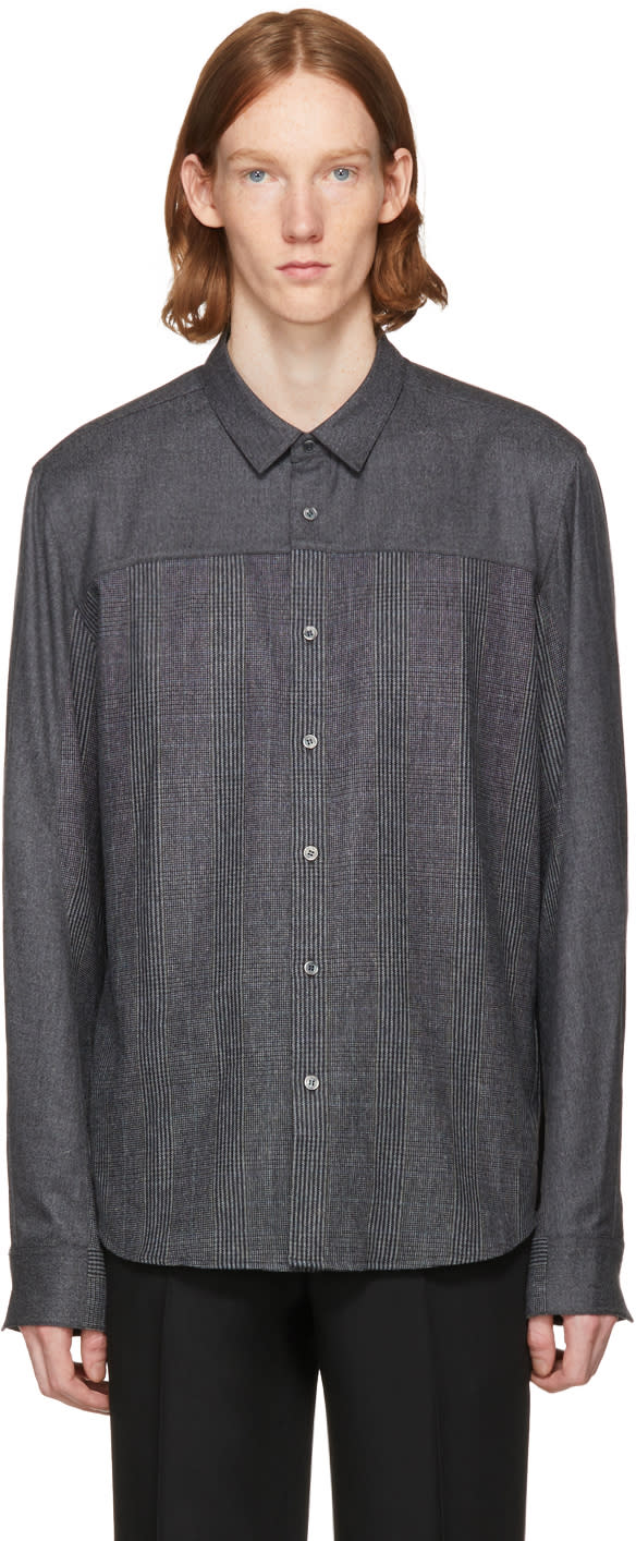Image of Wooyoungmi Grey Button Up Shirt