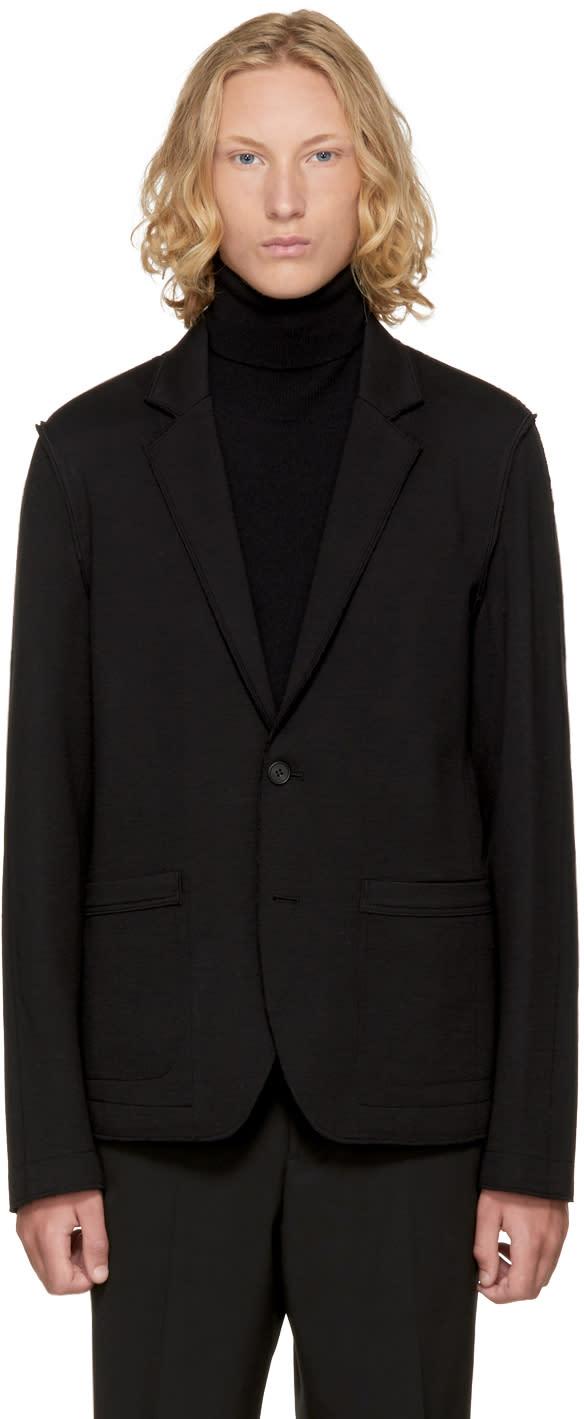 Image of Wooyoungmi Black Jersey Blazer