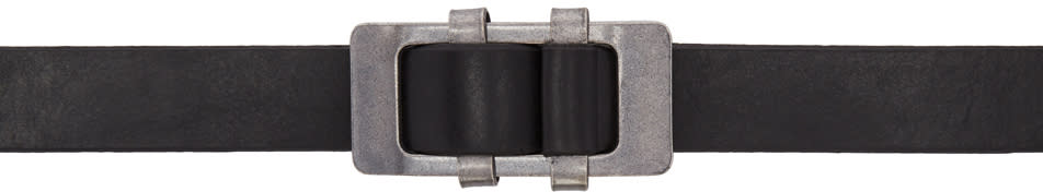 Image of Attachment Black Leather Belt
