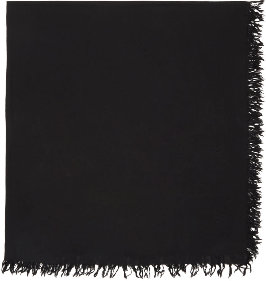 Image of Attachment Black Wool Scarf
