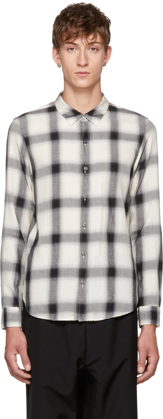Image of Attachment Black and White Plaid Shirt