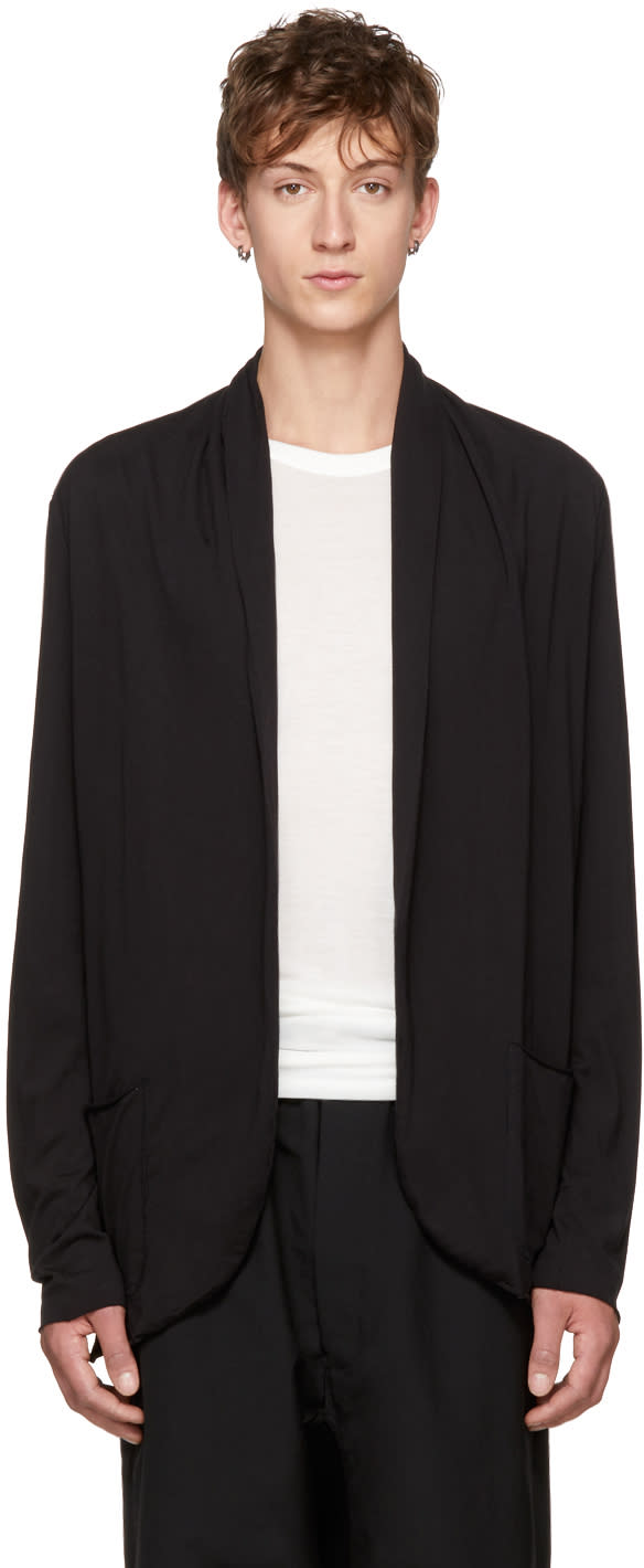 Image of Attachment Black Shawlneck Cardigan