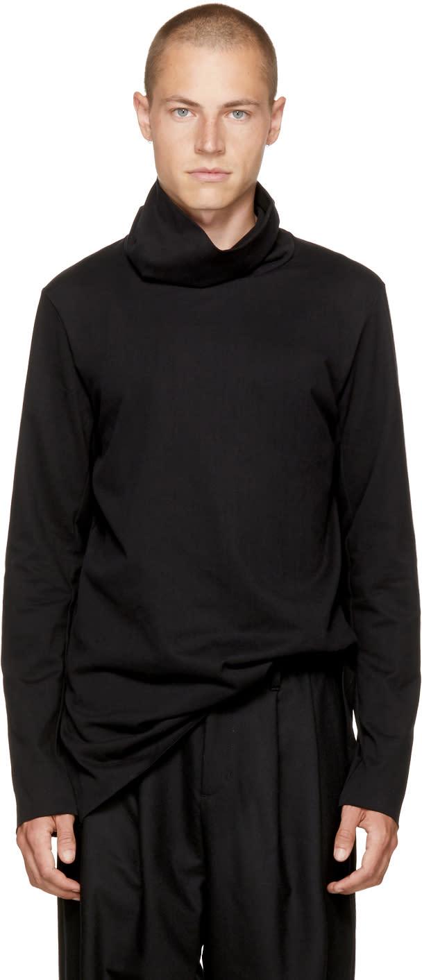 Image of Attachment Black Wide Collar Turtleneck