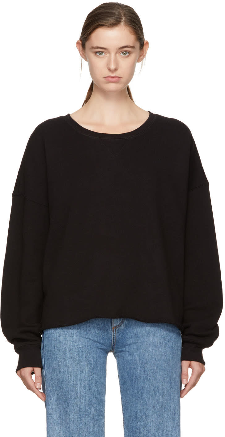 Image of Simon Miller Black Brushed Sweatshirt