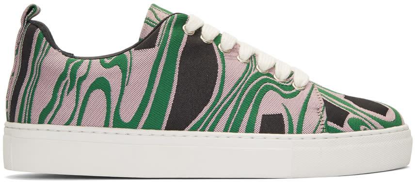 Marques Almeida Tricolor Lava Jacquard Sneakers
