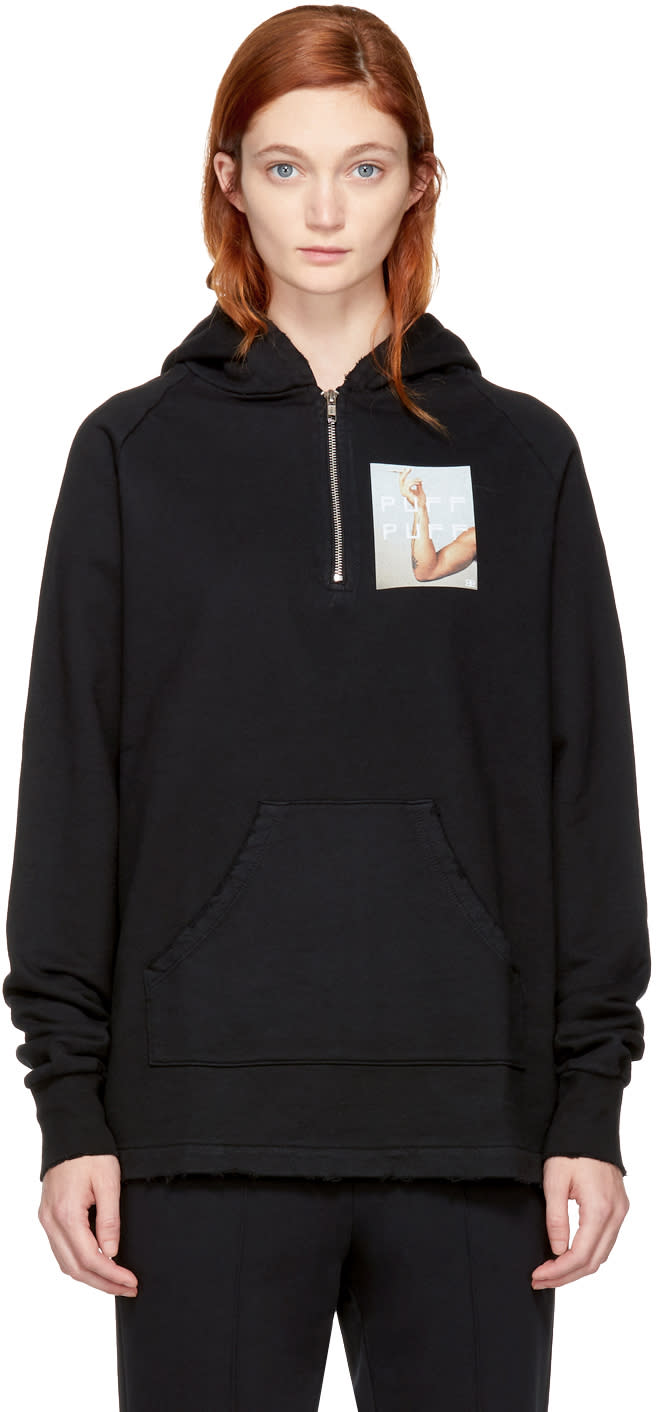 Image of Baja East Black puff Hoodie