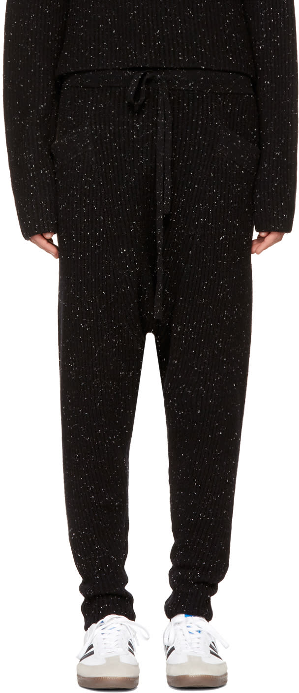 Image of Baja East Black Cashmere Lounge Pants