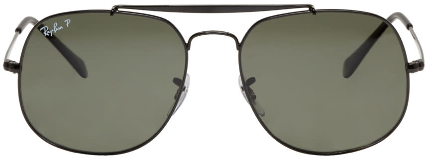 Image of Ray-ban Black General Aviator Sunglasses