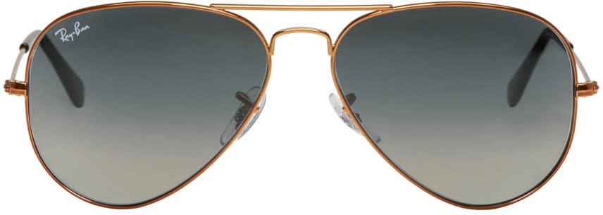 Ray-ban Bronze and Grey Gradient Aviator Sunglasses
