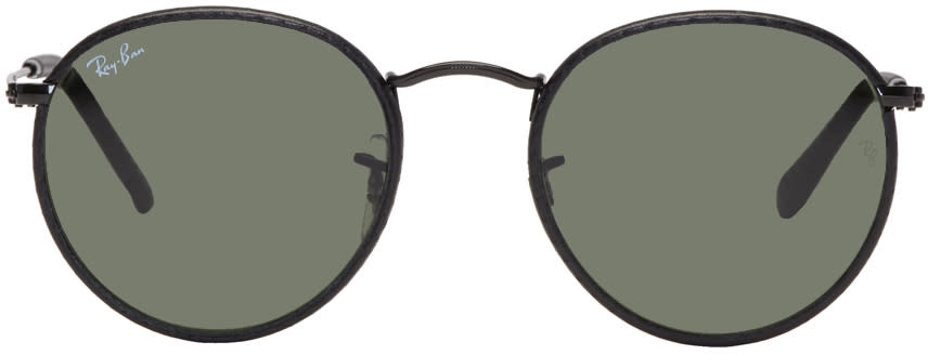 Image of Ray-ban Black Round Craft Sunglasses
