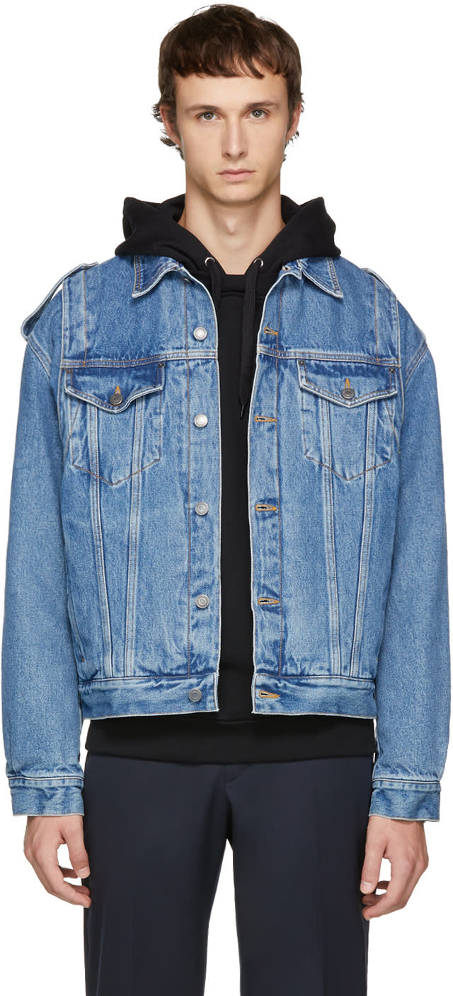 Image of Moschino Indigo Denim Jacket
