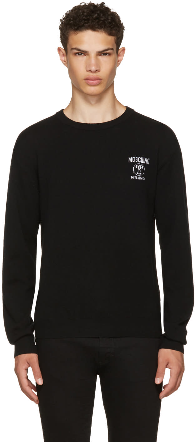 Image of Moschino Black Logo Sweater