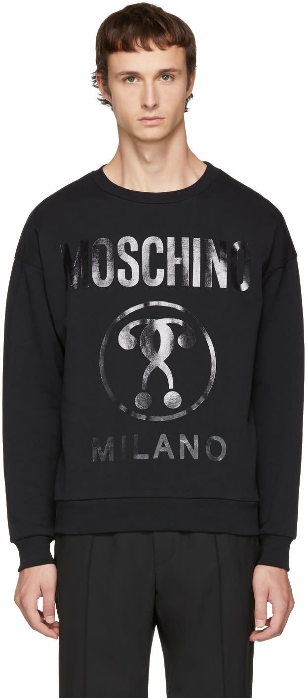 Image of Moschino Black Logo Sweatshirt