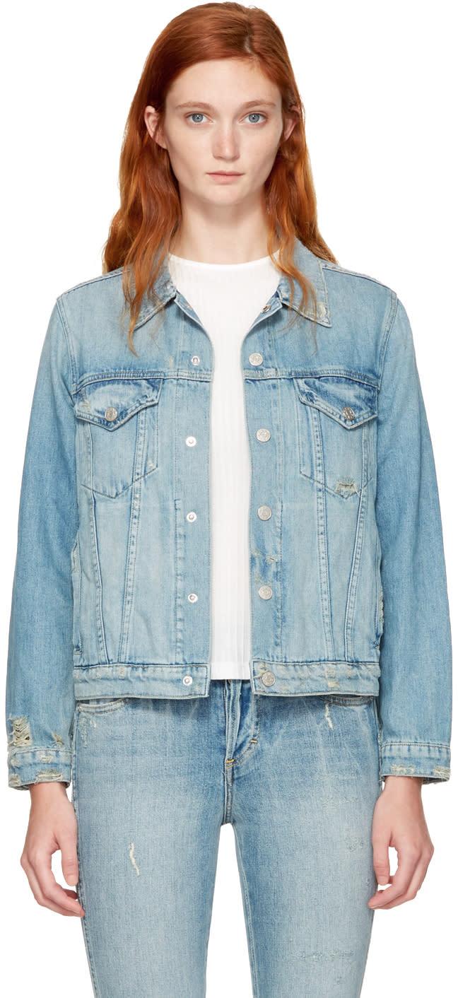 Image of Amo Blue Denim Pop Jacket