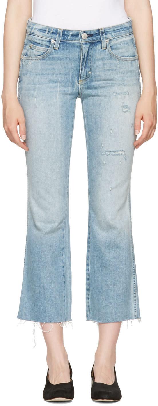 Image of Amo Blue Kick Crop Jeans