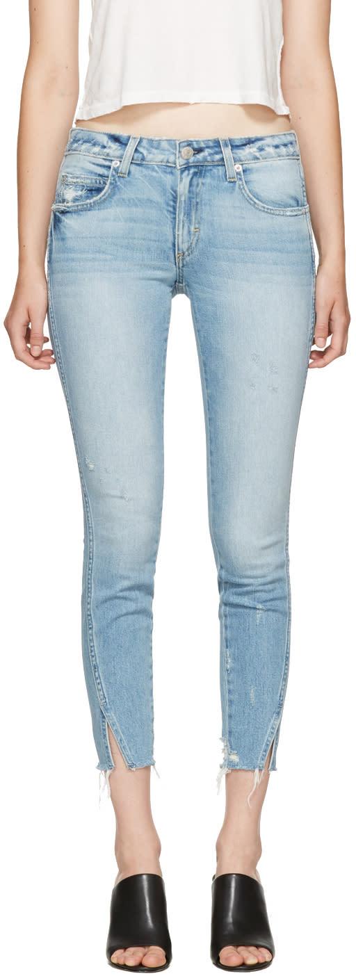 Image of Amo Blue Fray Twist Jeans