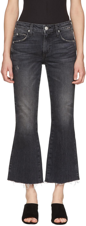 Image of Amo Black Kick Crop Jeans