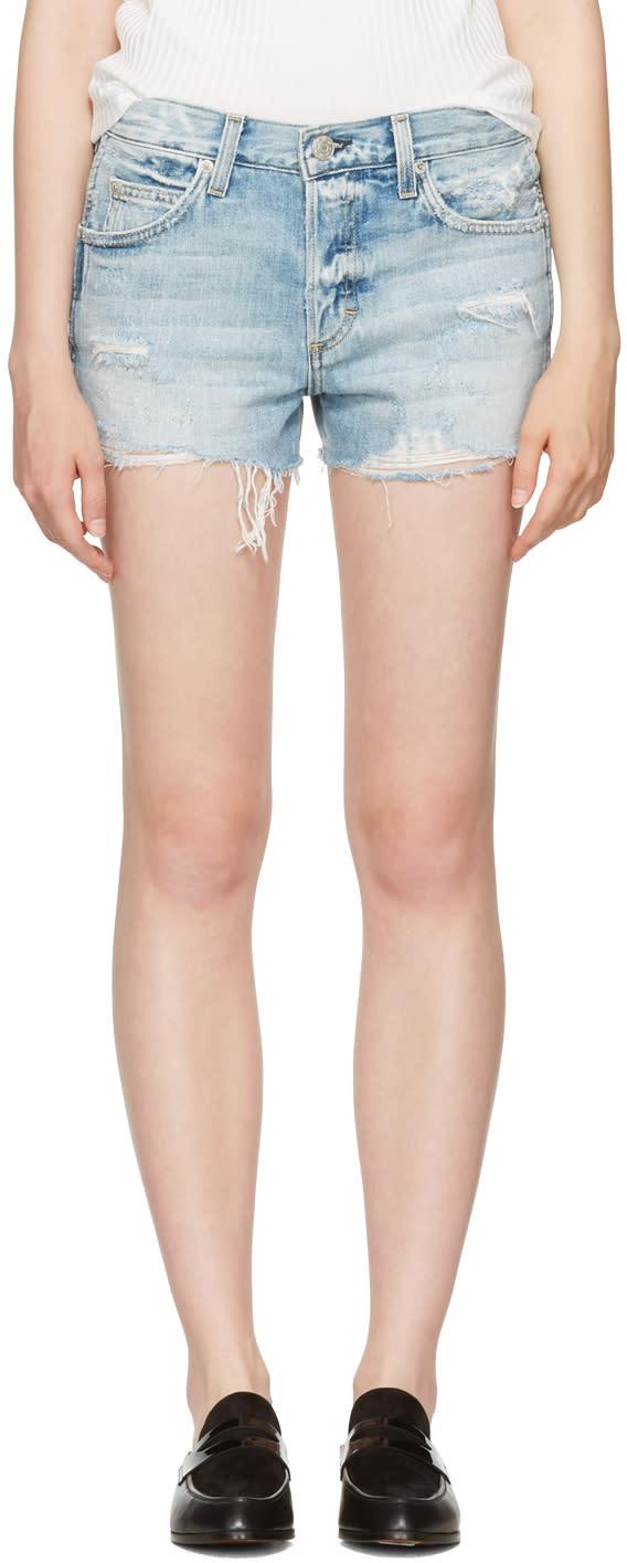 Image of Amo Blue Denim Tomboy Shorts