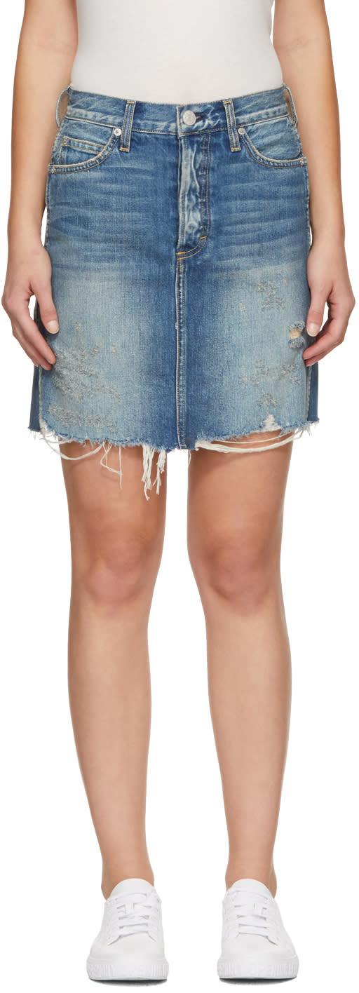 Image of Amo Blue Denim Gemma Miniskirt