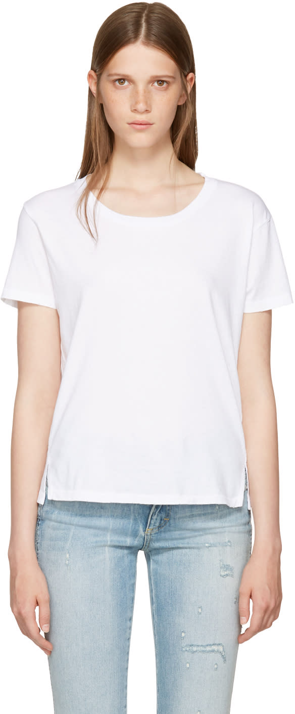 Amo T-shirt Blanc Twist Cut-out