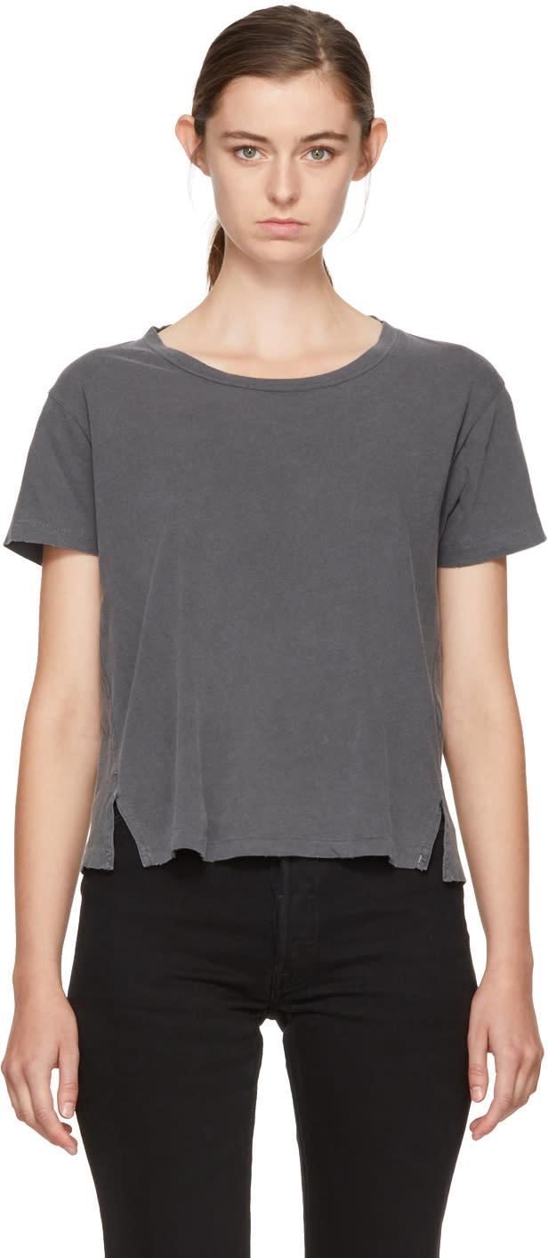 Image of Amo Black Twist Cut-out T-shirt