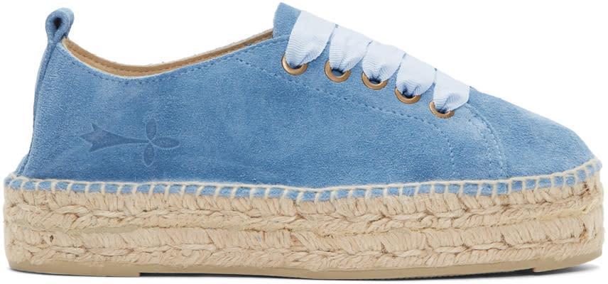 Image of Manebí Blue Suede Hamptons Sneaker Espadrilles