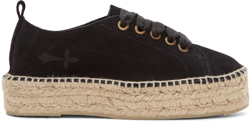 Image of Manebí Black Suede Hamptons Sneaker Espadrilles