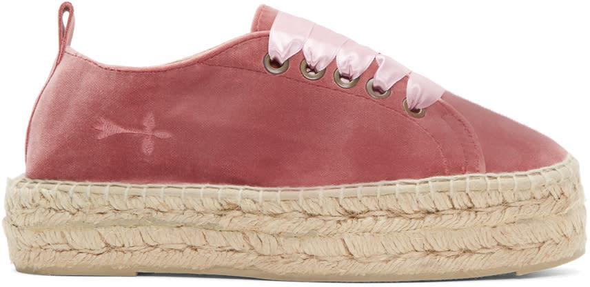 Image of Manebí Pink Velvet Hamptons Sneaker Espadrilles