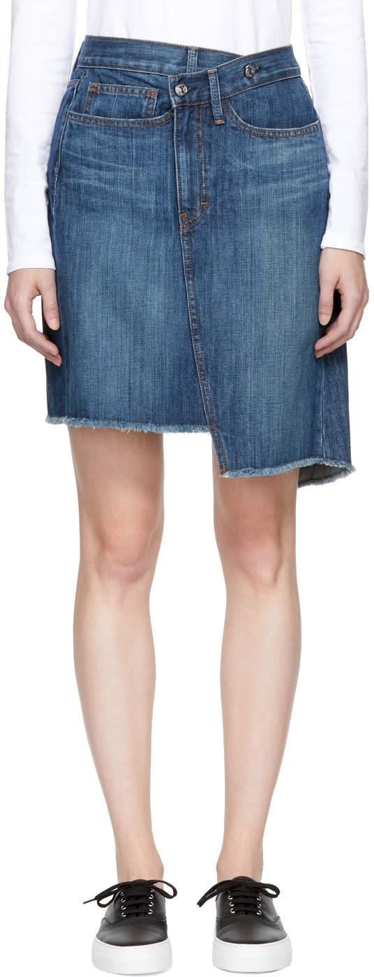 Image of Earnest Sewn Blue Denim Tammy Miniskirt