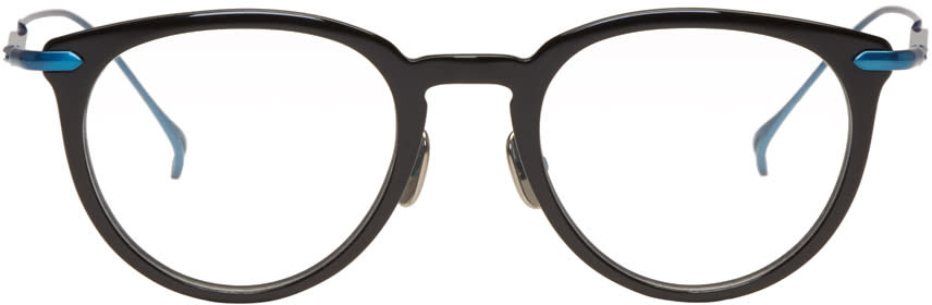 Issey Miyake Men Black Boston 2 Glasses