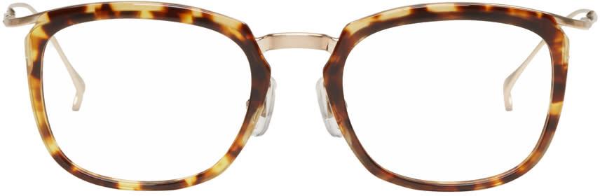 Issey Miyake Men Tortoiseshell Pentagon 1 Glasses