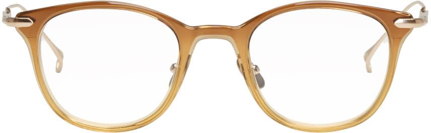 Issey Miyake Men Brown Wellington 2 Glasses
