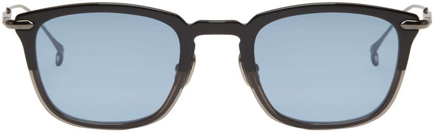 Issey Miyake Men Black Pentagon 2 Sunglasses