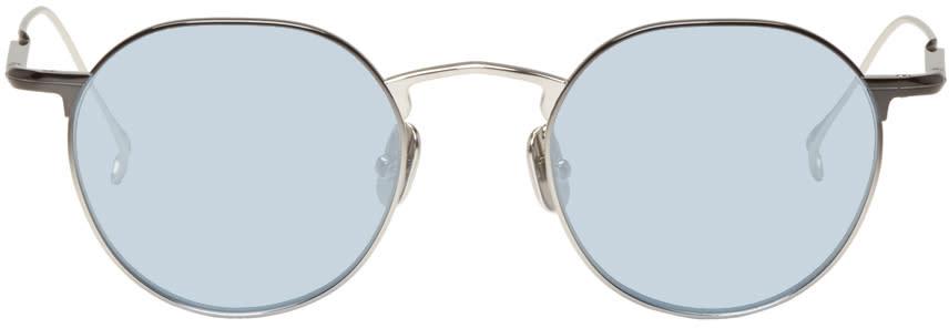 Issey Miyake Men Silver Pentagon 3 Sunglasses