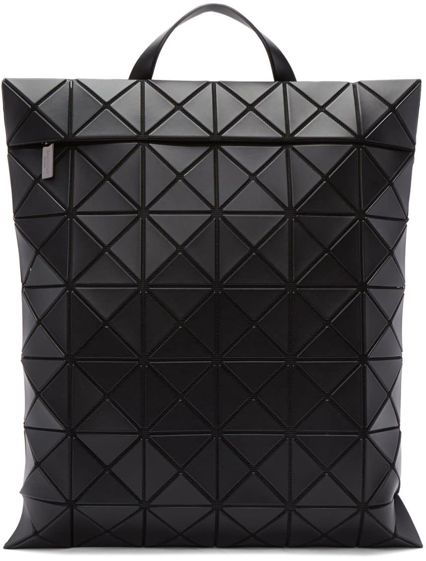Image of Bao Bao Issey Miyake Black Flat Backpack