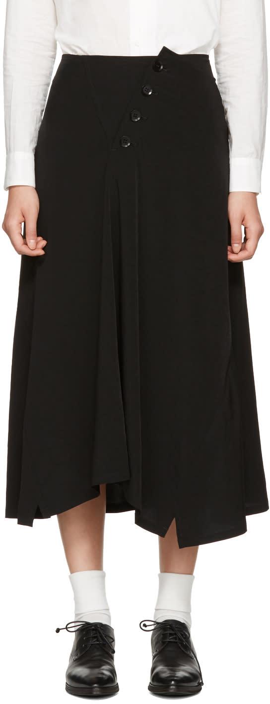 Ys Black Long Skirt