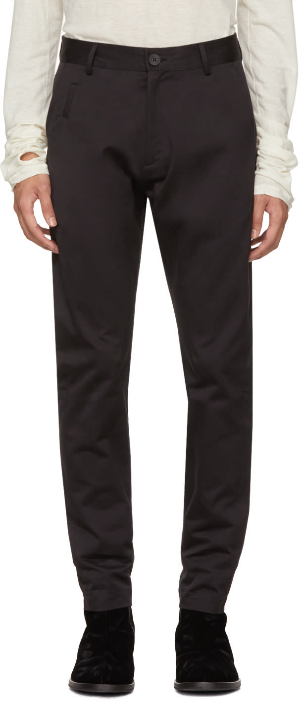 Image of Isabel Benenato Black Five-pocket Trousers