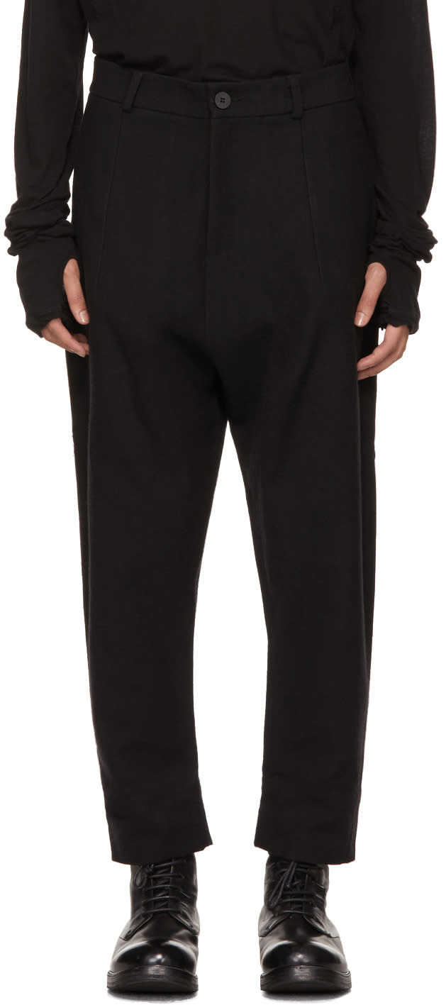 Image of Isabel Benenato Black Dropped Trousers